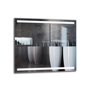 Gerwara Bathroom Mirror Metro Lane Size: 80cm H x 90cm W