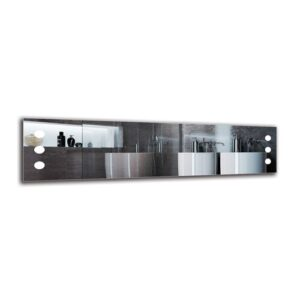 Gro Bathroom Mirror Metro Lane Size: 40cm H x 160cm W