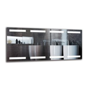 Gunhild Bathroom Mirror Metro Lane Size: 50cm H x 110cm W