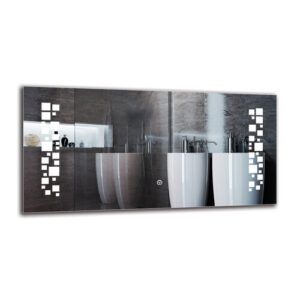 Gunlogh Bathroom Mirror Metro Lane Size: 40cm H x 80cm W