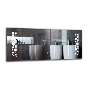 Gunlogh Bathroom Mirror Metro Lane Size: 40cm H x 90cm W