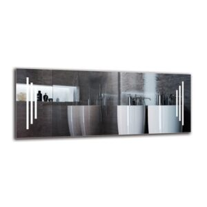Gunnur Bathroom Mirror Metro Lane Size: 40cm H x 100cm W