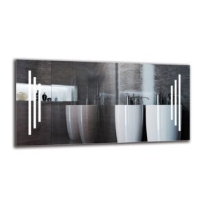 Gunnur Bathroom Mirror Metro Lane Size: 40cm H x 80cm W