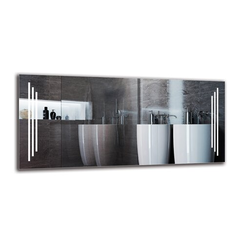 Gunnur Bathroom Mirror Metro Lane Size: 60cm H x 130cm W