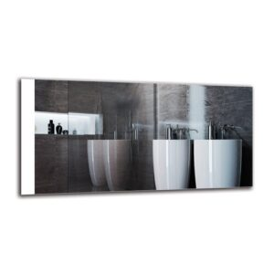 Gyda Bathroom Mirror Metro Lane Size: 50cm H x 100cm W