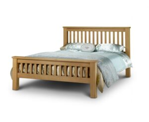 Haven Solid Oak High Foot End King Size Bed
