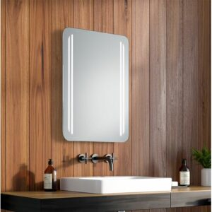 Helen LED Illuminated Bathroom Mirror Ivy Bronx Size: 63cm H x 100cm W x 3.2cm D