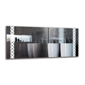 Helgha Bathroom Mirror Metro Lane Size: 50cm H x 110cm W