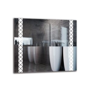 Helgha Bathroom Mirror Metro Lane Size: 70cm H x 80cm W