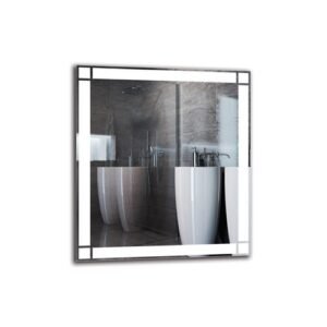 Helle Bathroom Mirror Metro Lane Size: 90cm H x 80cm W