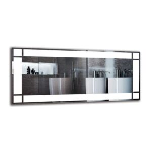 Helvig Bathroom Mirror Metro Lane Size: 40cm H x 90cm W