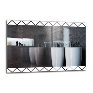 Holmfrith Bathroom Mirror Metro Lane Size: 60cm H x 90cm W