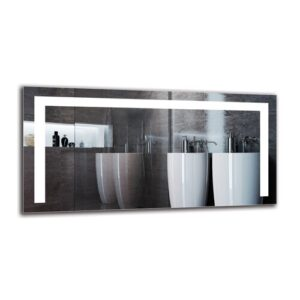 Ilse Bathroom Mirror Metro Lane Size: 40cm H x 80cm W
