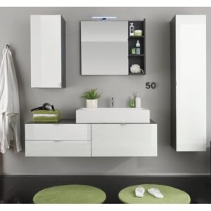 Impriano 3 Piece Bathroom Furniture Suite with Mirror Ivy Bronx