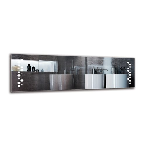 Ingiara Bathroom Mirror Metro Lane Size: 40cm H x 130cm W