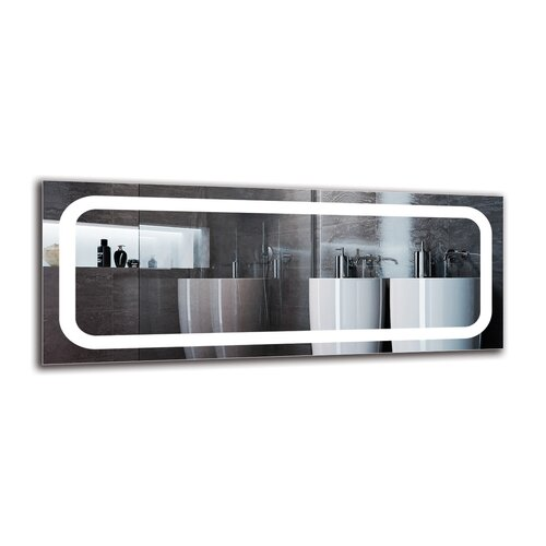 Ingifrith Bathroom Mirror Metro Lane Size: 40cm H x 100cm W