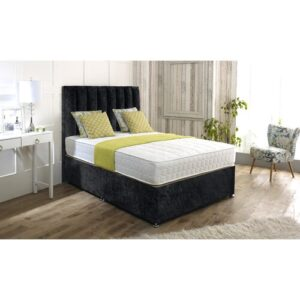 Isaac Upholstered Divan Bed and Headboard Rosdorf Park Colour: Black, Size: Kingsize (5'), Storage Type: 2 Drawers Same Side
