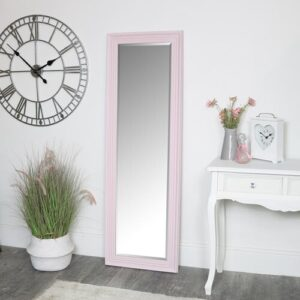 Jocelynn Full Length Mirror Marlow Home Co. Finish: Pink