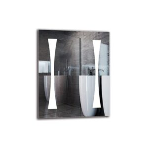 Jutta Bathroom Mirror Metro Lane Size: 50cm H x 40cm W