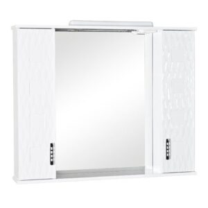 Kaiser 87cm x 102cm Surface Mount Mirror Cabinet with LED Lighting Belfry Bathroom