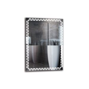 Karna Bathroom Mirror Metro Lane Size: 100cm H x 70cm W