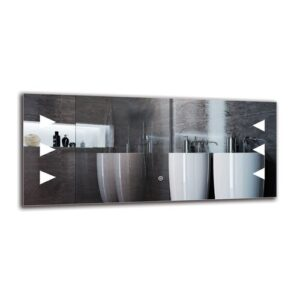 Kennebunk Bathroom Mirror Metro Lane Size: 40cm H x 90cm W