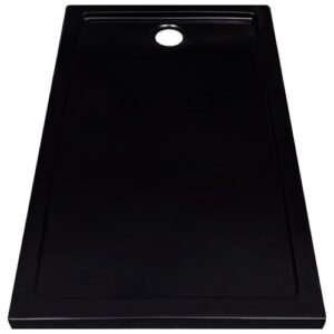 Knights Fiberglass Shower Tray Belfry Bathroom Finish: Black, Size: 5.5cm H x 120cm W x 70cm D