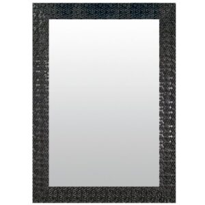 Lisa Full Length Mirror Mercer41 Size: 46cm H x 96cm W, Finish: Anthracite, Mirror: Without facets