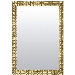 Lisa Full Length Mirror Mercer41 Size: 46cm H x 96cm W, Finish: Gold, Mirror: Without facets