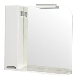 Lois 82cm x 85cm Surface Mount Mirror Cabinet with LED Lighting Belfry Bathroom