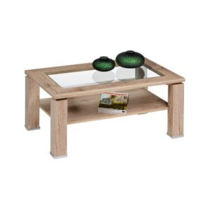 Maddux Coffee Table with Storage Mercury Row Colour: Light San Remo oak