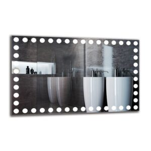 Margaretha Bathroom Mirror Metro Lane Size: 50cm H x 80cm W