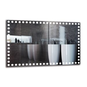 Margaretha Bathroom Mirror Metro Lane Size: 70cm H x 110cm W