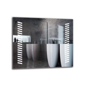 Margrethe Bathroom Mirror Metro Lane Size: 60cm H x 70cm W