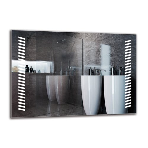 Margrethe Bathroom Mirror Metro Lane Size: 70cm H x 100cm W