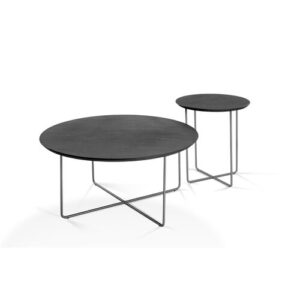 Mcwilliams Coffee Table Wade Logan Tabletop Colour: Black, Frame Colour: Silver