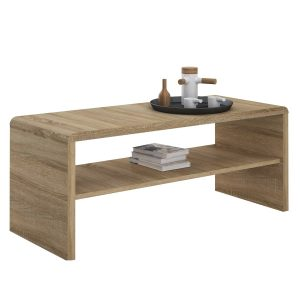 Moderne Oak Coffee Table & TV Unit