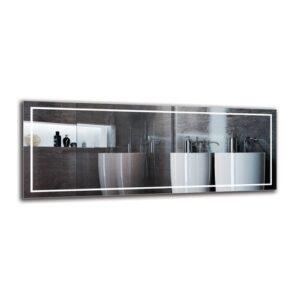 Motha Bathroom Mirror Metro Lane Size: 50cm H x 130cm W