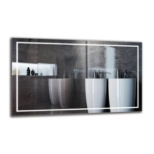 Motha Bathroom Mirror Metro Lane Size: 60cm H x 100cm W