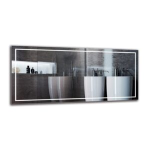 Motha Bathroom Mirror Metro Lane Size: 60cm H x 130cm W