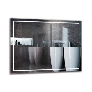 Motha Bathroom Mirror Metro Lane Size: 70cm H x 90cm W