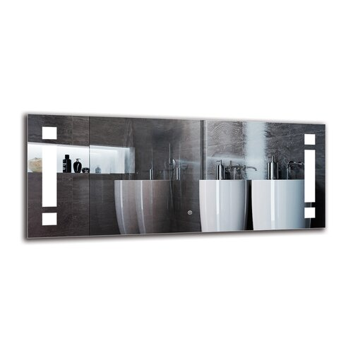Natchez Bathroom Mirror Metro Lane Size: 50cm H x 120cm W