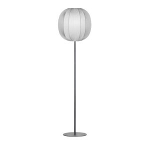 Neo 170cm Floor Lamp Herstal Base Finish: Grey, Shade Colour: Grey