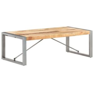 Nicole Coffee Table Borough Wharf Colour: Oak Top/Grey Base