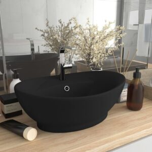 Pearlene Bathroom Luxury Ceramic Countertop Basin Belfry Bathroom Finish: Black