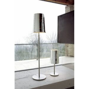 Poway 134.5cm Traditional Floor Lamp Ebern Designs Base Finish: Chrome, Shade Colour: Mirror