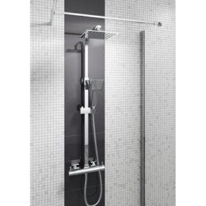 Quadrato Thermostatic Shower with Dual Shower Head Belfry Bathroom