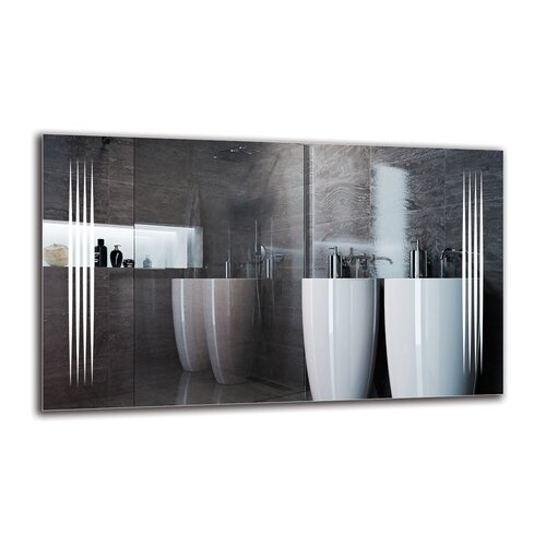 Ragnfrith Bathroom Mirror Metro Lane Size: 60cm H x 100cm W