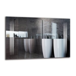 Ragnfrith Bathroom Mirror Metro Lane Size: 60cm H x 90cm W