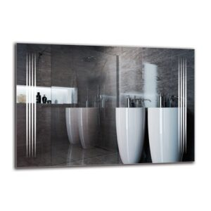 Ragnfrith Bathroom Mirror Metro Lane Size: 70cm H x 100cm W